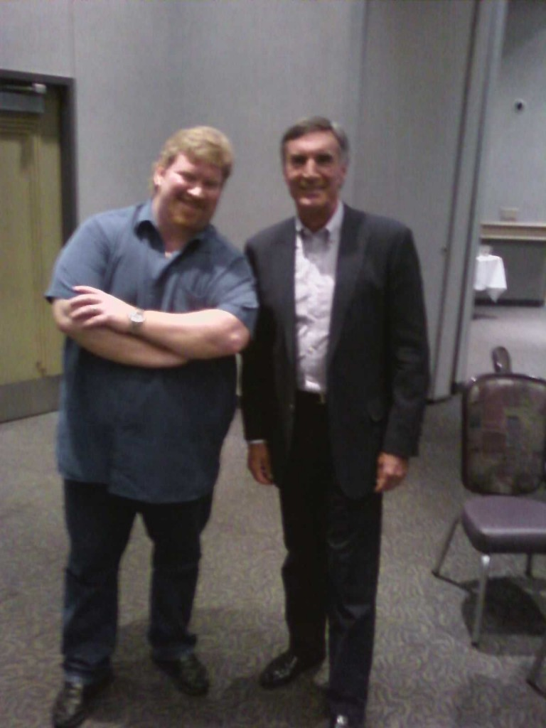 Comedian Darren Marlar and nationally syndicated radio talk show host, Roger Hedgecock